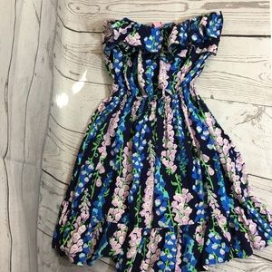 Lilly Pulitzer Strapless Flor Dress Size Small